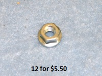 "- 1/4-28 Wheel Lug Nut 1/2"" Head with Smooth Face -"