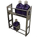 - Streeter/HRP Fuel Jug Rack, Two Level, Holds Up To Six Jugs, Bare Aluminum Finish -