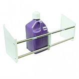 - Streeter Fuel Jug Rack, Floor Mount, Holds Up To 4 Jugs, White Powder Coat End Plates -