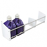 - Streeter/HRP Fuel Jug Rack, Floor Mount, Holds Up To 6 Jugs, White Powder Coat End Plates -