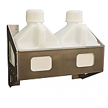 - Streeter/HRP Fuel Jug Rack, Holds (Two) 2.5 Gallon Jugs, White Powder Coat Finish -
