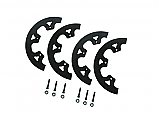 - Aluminum 2 Piece Black Sprocket Guide with Hardware -